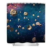 Meteor Storm Shower Curtain