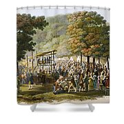 Methodist Camp Meeting Shower Curtain