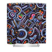 Metrimorphic Lll Shower Curtain
