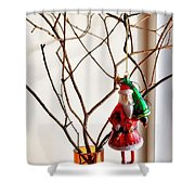 Metro Hipster Santa Shower Curtain