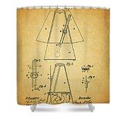 Metronome Patent Shower Curtain