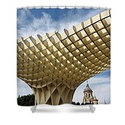 Metropol Parasol At The Plaza Of The Incarnation In Seville Spai Shower Curtain