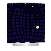 Metropolis At Night Shower Curtain