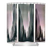 Metropolis Rush Hour Triptych Shower Curtain