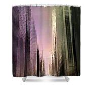 Metropolis Sunset Shower Curtain