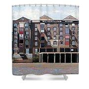 Metropolitan Wharf Shower Curtain