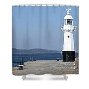 Mevagissey Lighthouse Shower Curtain