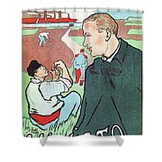 Mevisto In The Country French Theatre Ad Shower Curtain