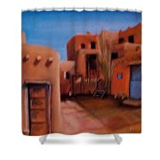 Mexican Adobe Shower Curtain