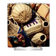 Mexican Baskets Shower Curtain