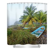 Mexican Boat In The Fog Shower Curtain