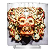 Mexican Day Of The Dead Mask Shower Curtain