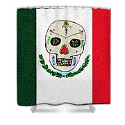 Mexican Flag Of The Dead Shower Curtain