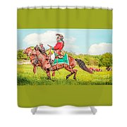 Mexican Horse Soldiers Shower Curtain