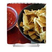 Mexican Inn Chips And Salsa Shower Curtain