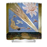 Mexican Mural Painting Shower Curtain