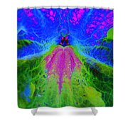 Mexican Petunia Abstract Shower Curtain