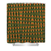 Mexican Poppy Field Abstract Shower Curtain