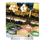 Mexican Pottery Shower Curtain