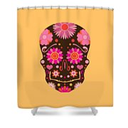 Mexican Skull Art Illustration Shower Curtain