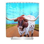 Mexican Standoff Shower Curtain