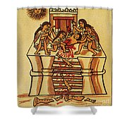 Mexico: Aztec Sacrifice Shower Curtain