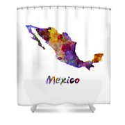 Mexico In Watercolor Shower Curtain