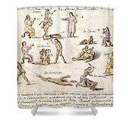 Mexico: Indian Punishments Shower Curtain