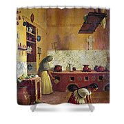 Mexico: Kitchen, C1850 Shower Curtain