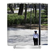 Mexico Policia Shower Curtain