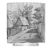 Mexico Streetscape Shower Curtain