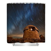 Meyer Womble Star Trails Shower Curtain