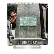 Mg Abner Doubleday Shower Curtain