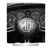 Mg Midget Dashboard Shower Curtain