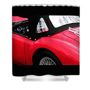 M G  Red Shower Curtain
