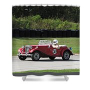 Mg Tc Racer Shower Curtain