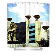 Mgm Lion In Las Vegas Shower Curtain
