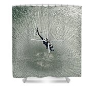 Mh-60r Sea Hawk Helicopter Shower Curtain