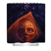 mh mstaw ArtOf 28 KosmicThunder Matthew Stawicki Shower Curtain