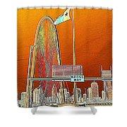 Mhh Bridge Abstract Shower Curtain