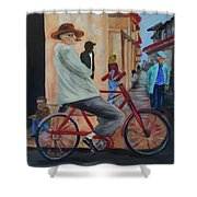 Mi Bicicleta Shower Curtain