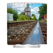 Mi New Haven Rail Road Reflections Shower Curtain