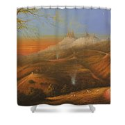 Mi Pueblo Blanco Olvera Shower Curtain