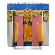 Miami Beach Art Deco Shower Curtain