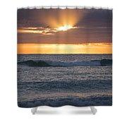 Miami Beach Florida Sunrise Shower Curtain