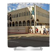 Miami Beach Synagogue Saturday Morning Shower Curtain