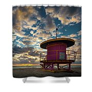 Miami Dawn Shower Curtain by Dave Bowman