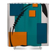Miami Dolphins Football Art Shower Curtain
