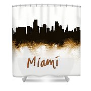 Miami Fla 2 Skyline Shower Curtain