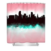 Miami Fla Skyline Shower Curtain